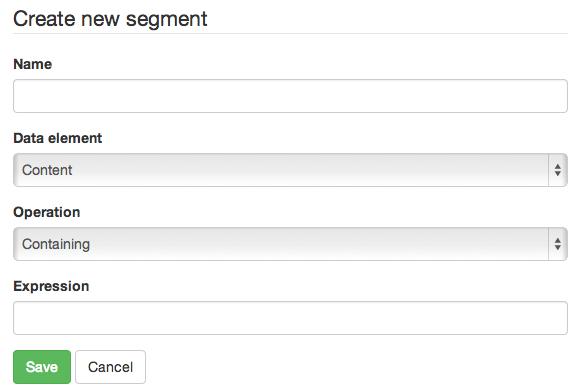 create custom segment