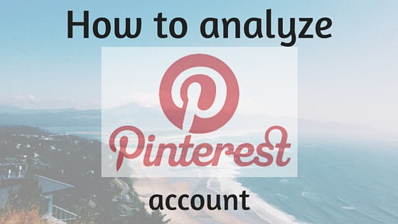 How to analyze Pinterest account