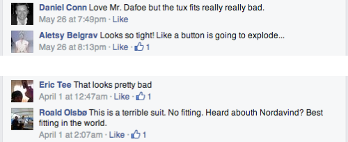 Comments worst Facebook posts for Prada
