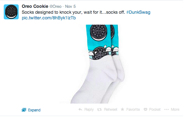 Oreo Twitter campaigns analytics - #dunkswag