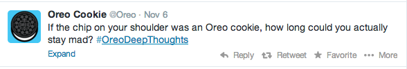 Oreo Twitter campaigns analytics - #oreodeepthoughts