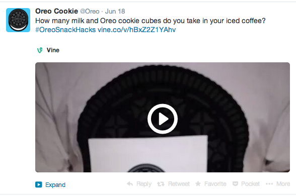 Oreo Twitter campaigns analytics - #oreosnackhacks