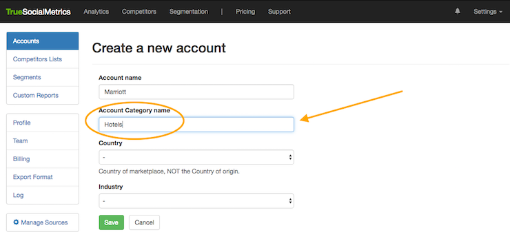 create account category